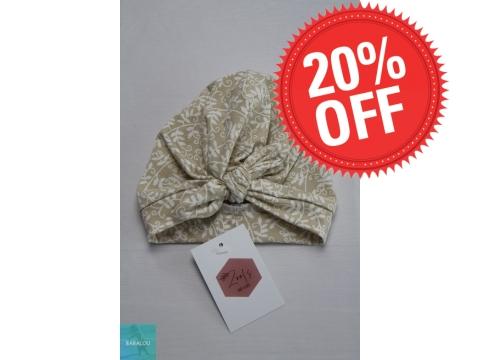 Zoofs - Turban ivy flower sand knotted bow - Maat 1-6 maand